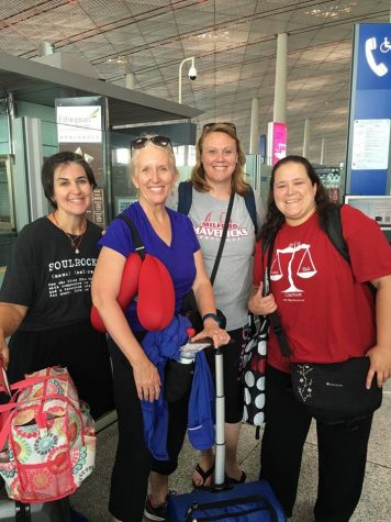 Four staff members teach in China