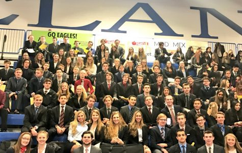 Milford students compete at DECA competition