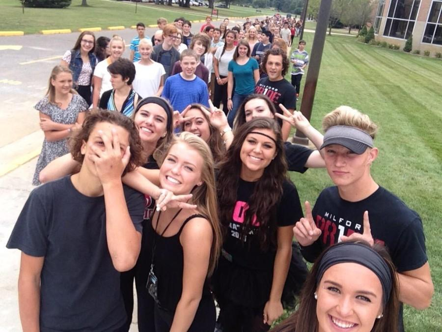 Freshmen class welcomed by Leadership students