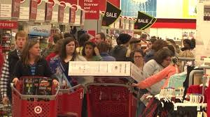People filling their carts with products on Black Friday