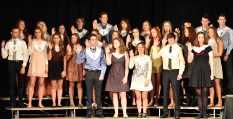 These are the new members that were inducted into NHS this fall.