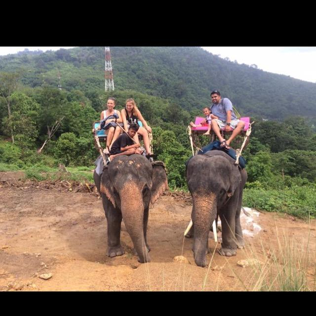 My+experience+in+Thailand+included+riding+elephants+at+a+farm+for+the+animals.+