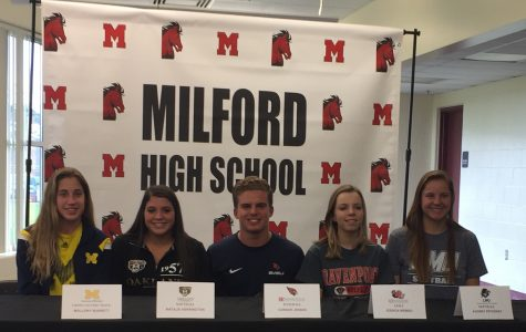 Five student-athletes realize college athletic dream