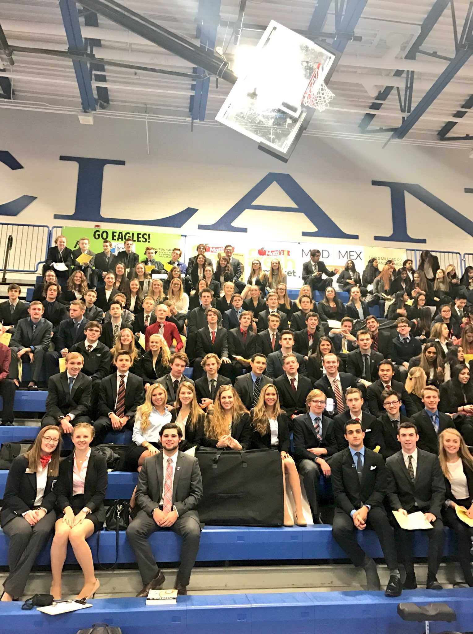 On Jan. 14, over 100 Milford students competed at the DECA competition at Lakeland High School.