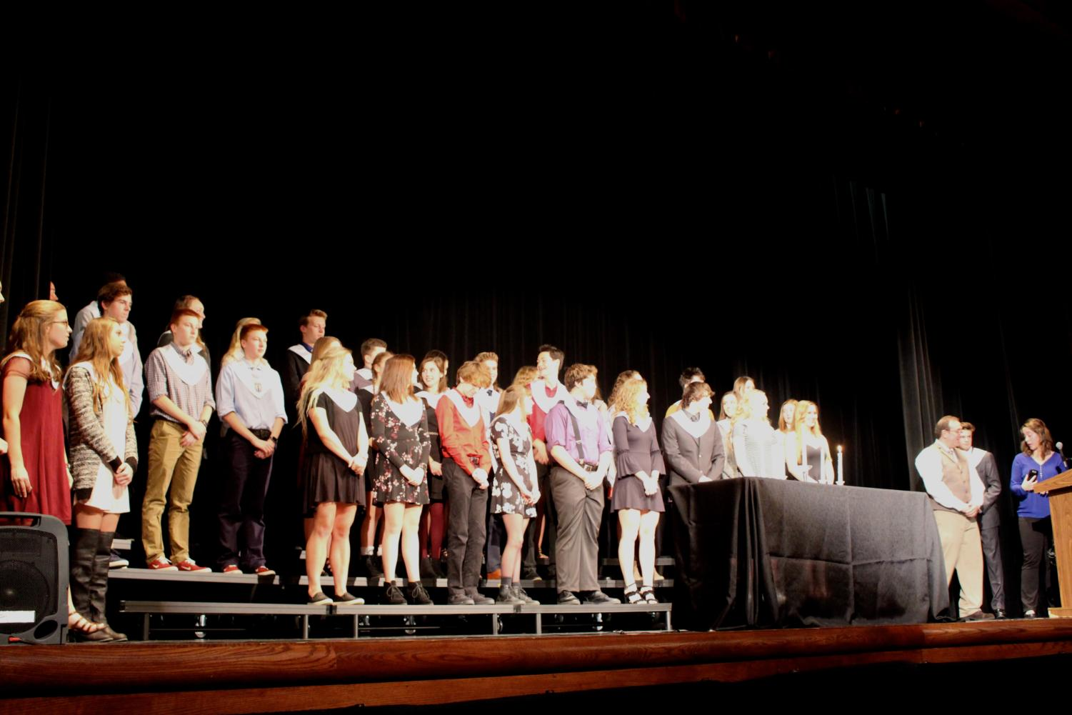 On Oct. 26, 35 new NHS members were recognized in front of family and administration.