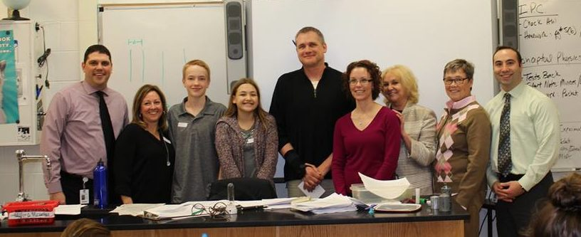 Mr. Swierkos is surprised with his nomination by HVS staff and his family. (Image courtesy of HVS Facebook)