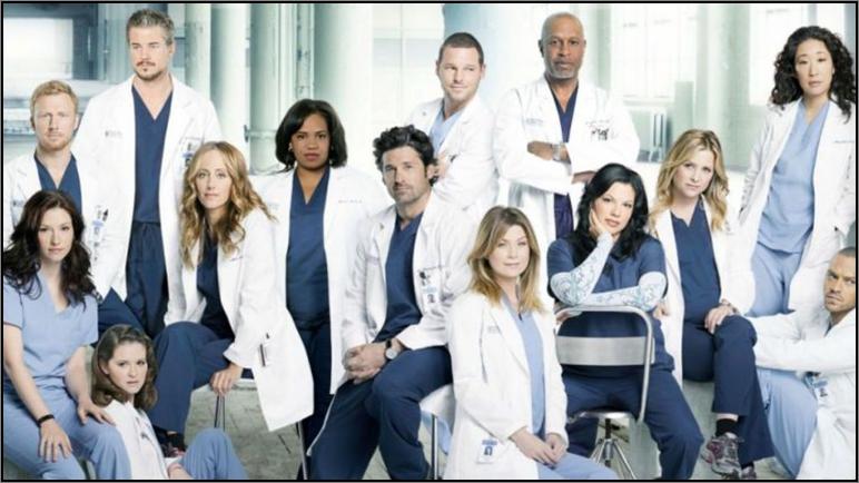 The Grey's Anatomy cast photo for season eight