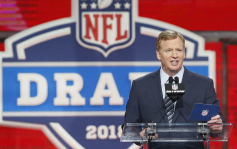 Commissioner Roger Goodell announces the first pick April 26th.
