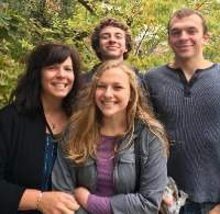 Ms. Painter, Audrey, Cole, and Curtis Painter together  on a beautiful Fall day (Photo courtesy of the Painter Family).