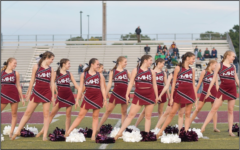 Milford High School's Pom team takes the field