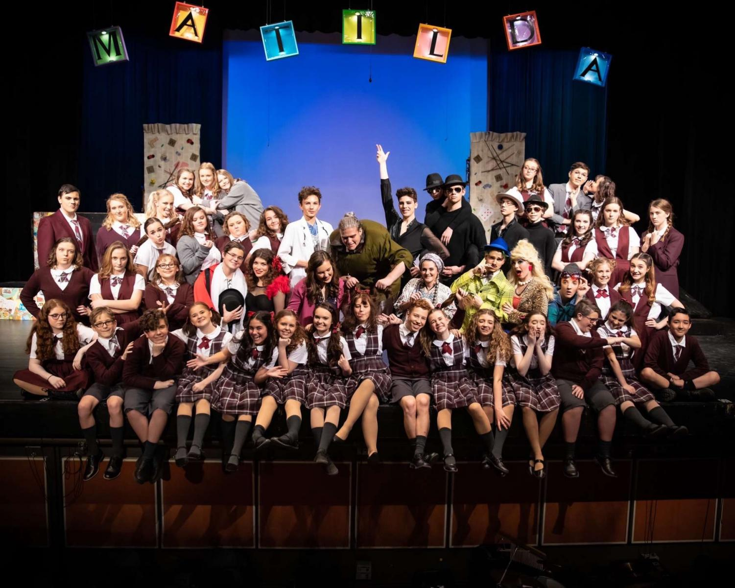 A group photo of the cast of Matilda (Photo courtesy of Tara Johnson)