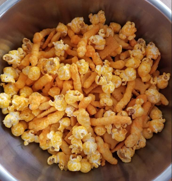 Cheesy Snack Mix (Photo by Riley Coesens)