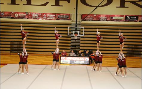MHS cheerleaders performing a