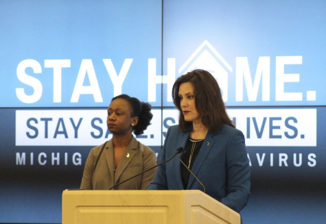 Michigan Governor Gretchen Whitmer, right, along with Michigan Health and Human Services Chief Medical Executive Dr. Joneigh Khaldun, left, have advocated for a slow reopening of the Michigan economy to avoid another COVID-19 wave. More than 4,700 Michigan deaths have been attributed to the virus as of May 13.