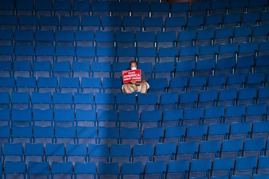 Lone Trump supporter sits in nearly empty venue after Tik Tok teens reserve all the seats with no intention of showing up