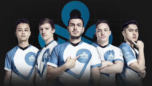 (Left to right) Stewie2K, Skadoodle, TaRIK, RUSH, and automatic, Cloud 9's CSGO Roster that won the 2018 ELEAGUE Boston Major.