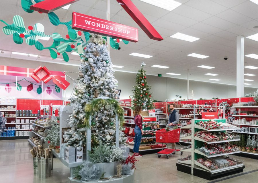Big+box+stores+set+up+their+Christmas+displays+just+as+Halloween+comes+to+an+end.