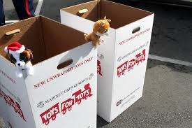 Toys for Tots donation boxes are one of the many ways in which people can donate to those in need this holiday season.