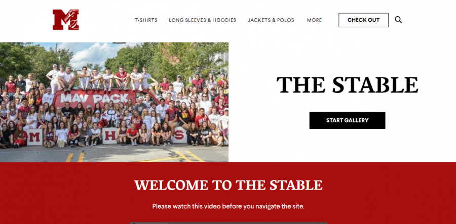 The homescreen for The Stable's online store