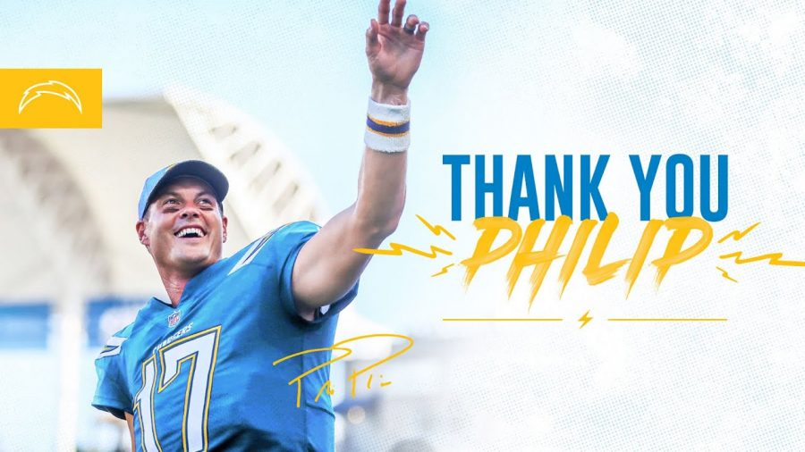 Rivers waving goodbye to his fans after he announced he was leaving the Chargers after 16 years.
