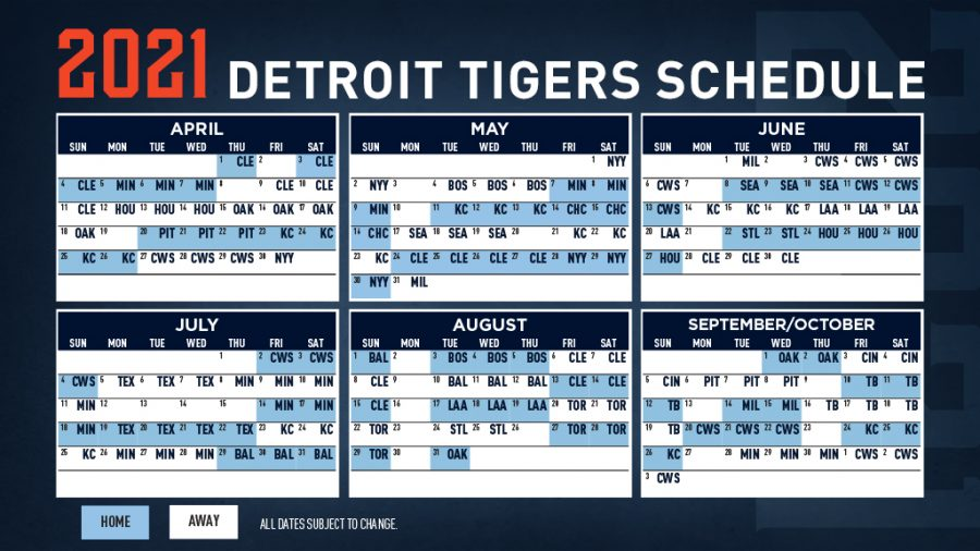 The 2021 Detroit Tigers game schedule