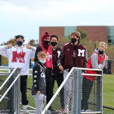 In past years, seniors have been at the forefront of student sections at football games and other sporting events, cheering on MHS' student athletes (Photo courtesy of Bruce Maverick).