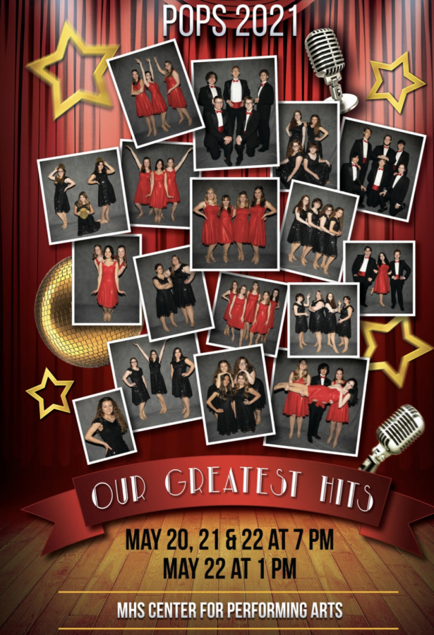 After the cancellation of last years POPS performance, Milfords Center Stage and Choraleers classes were back onstage with POPS 2021: Our Greatest Hits (Photo courtesy of MHSVocalMusic.com)